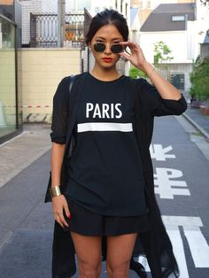nothing quite says Tokyo like a blackout with a jumper emblazoned with 'Paris'. NOT! #JK. cool though.