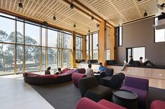 RMIT Bundoora West Student Accommodation,© Dianna Snape.  Tretford carpet tiles used throughout in Charcoal 620.