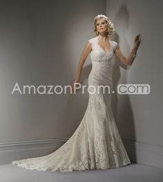 Spectacular Trumpet/Mermaid Straps Floor-Length Chapel Lace Wedding Dresses