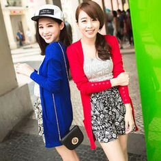 Button-Sleeve Dual-Pocket Cardigan from #YesStyle <3 Tokyo Fashion YesStyle.com