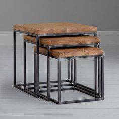 BuyJohn Lewis Calia Nest Of 3 Tables, Oak Online at johnlewis.com