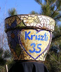 Big mosaic pot - side 4
