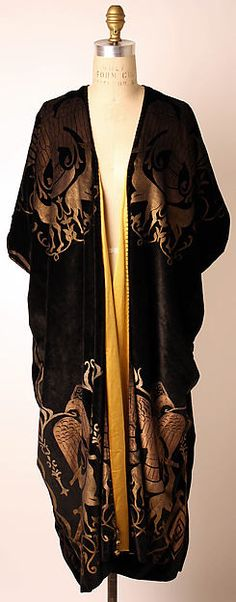 "relaxing and watching ""Woman of the Year""... evening coat attributed to Vitaldi Babani, early 1920's, silk (metmuseum.org)"