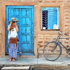 On the streets of Jodhpur, the so-called Blue City, in Rajasthan. Photo by @travelplusstyle.