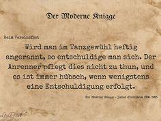 Aus: Der Moderne Knigge – Julius Stettenheim: Leitfaden für den Winter - beim Vereinsfest #Zitate #LeLiFe