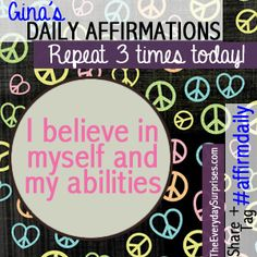 #affirmdaily - my favorite affirmations!