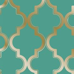 A Moroccan inspired trellis design with bold and metallic color ways. Marrakesh in Jade background and Metallic Gold is temporary, removable wallpaper sold as 1 double roll of in. x 11 yds. Marrakesh repeat is 12 in. Painting Wallpaper, Wallpaper Samples, Home Wallpaper, Wallpaper Roll, Peel And Stick Wallpaper, Pattern Wallpaper, Green Wallpaper, Velvet Wallpaper, Animal Wallpaper