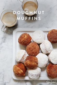 Doughnut Muffins. A reason to wake up in the morning.
