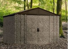 Need a storage solution that blends in? Introducing the new Camo storage shed from Arrow Sheds. Store your ATV, Jet Ski, Tents, gear, or any outdoor toys in this Hot Dipped Galvanized steel camo storage shed. Keeps your items dry and secure. Steel Storage Sheds, Steel Sheds, Shed Storage, Outdoor Toys, Outdoor Decor, Outdoor Shelters, Modern Shed, Shed Roof, Galvanized Steel