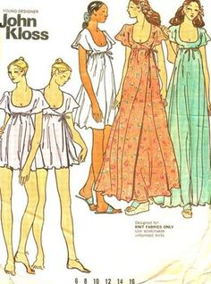 1970s Misses Baby Doll Nightgown Nightgown