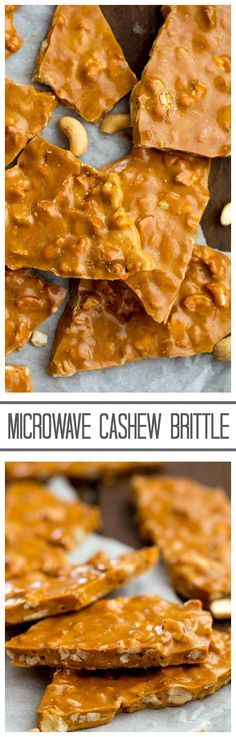 This Microwave Cashew Brittle is incredible and so easy it is made right in your microwave!!