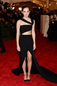 Emma Watson in an elegant but edgy black cut-out gown by Prabal Gurung is just one of the most memorable Met Gala looks of all time.
