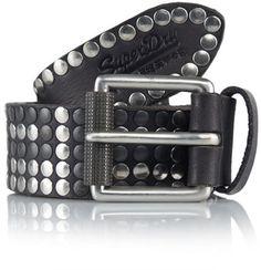 Black Studded Leather Belt: Superdry Rock Star Belt