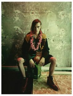 "EDITORIAL Vogue Hommes International Spring/Summer 2014 ""Exile"" Feat. Gryphon O'Shea by Paolo Roversi"