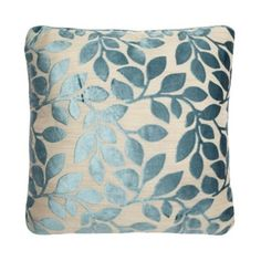 Debenhams Duck Egg Blue Burnout Leaf Cushion- at Debenhams.com £12.50 was £18