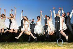 fun wedding party photo