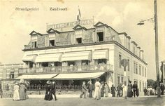 Front of the Hotel Driehuizen, Zandvoort around Delightful style of architecture with balconies and canopies. Holland, Seaside Resort, Canopies, Balconies, Vintage Photos, Louvre, Hotels, History, Architecture