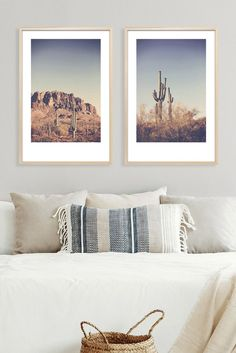 Set of two fine art phtotgraphy prints of the Superstition Mountains and saguaro cactus, from the Superstition Wilderness in Arizona. Sizes range from 4x6 to 24x36. Fine Art Photography, Landscape Photography, Travel Photography, Mandala Artwork, Inspirational Wall Art, Retro Art, Dream Decor, Felt Flowers, Vintage Posters