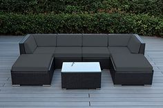Genuine Ohana Outdoor Patio Sofa Sectional Wicker Furniture 7pc Couch Set (Dark Gray) Ohana Collection http://www.amazon.com/dp/B018R8G8PC/ref=cm_sw_r_pi_dp_PcDMwb182VM4Q