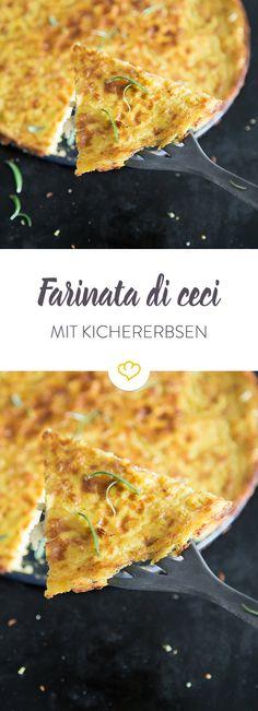 Farinata kommt ursprünglich aus Ligurien und ist ein echtes Super-Streetfood: der Kichererbsenfladen ist lecker, gesund, vegan und glutenfrei!