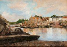 Lucien- Alphonse Gros 1845-1913 Le Passage-Lanriec.Concarneau