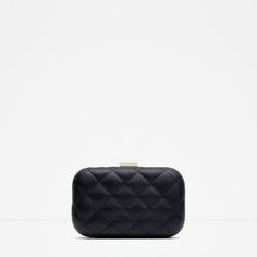 ZARA - WOMAN - QUILTED MINAUDIÉRE Zara Mini, Zara Official Website, Zara Bags, Zara Women, Clutch Bag, Zip Around Wallet, Purses, Shoe Bag, Leather