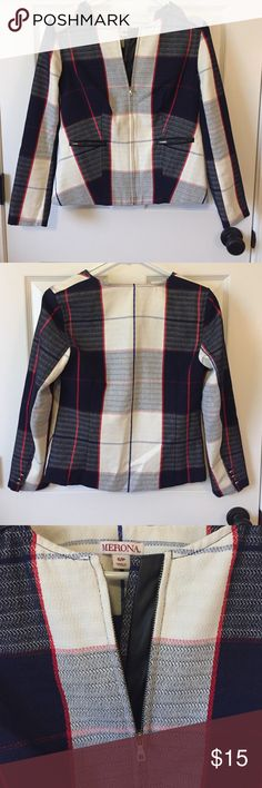 Plaid Fitted Jacket Plaid Fitted Jacket w/button detail on sleeves Merona Jackets & Coats Blazers
