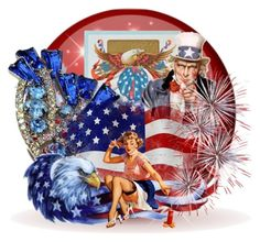 Born in the USA by pattysporcelainetc on Polyvore featuring Kunst, vintage and country
