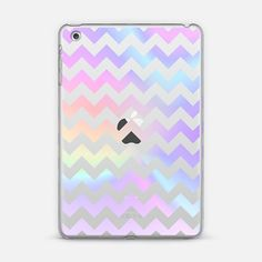Pastel Rainbow Chevron Transparent iPad Mini Case by Organic Saturation | Casetify. Make yours and get $10 off using code: 53ZPEA