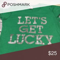 Let's get lucky tshirt Victoria's Secret PINK tshirt, perfect for St Patrick's Day PINK Victoria's Secret Tops Tees - Short Sleeve