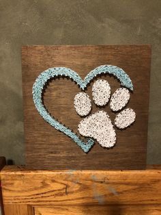String Art, Scroll Sawing, Wood Carving and more! String Wall Art, Nail String Art, String Crafts, String Art Tutorials, String Art Patterns, Paw Print Art, Arts And Crafts, Diy Crafts, Family Crafts