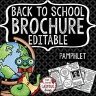 Back to School Brochure • Editable