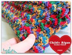 Crochet How To: Easy and Free Baby Blanket Afghan Beginner Pattern -