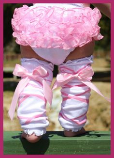 These one-of-a-kind Ballerina Bow Ruffled Leg Warmers are super adorable and a must have for your little angel. Pair them up with our Elizabeth ruffled baby bloomers and your little one will be the talk of the town. Also a great way to keep your little crawlers knees padded and protected while on the move. Available here >>> http://www.faithbaby.com/ballerina-bow-ruffled-legwarmers.html