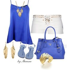 Summer blues with this stunning Prada bag, created by shauna-rogers on Polyvore