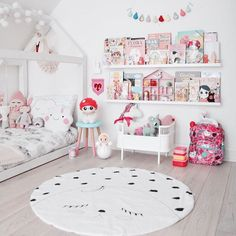 Sweet and Pink Girls Bedroom