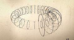 Calculation: rendering manual por Rafael Araujo from Geometry Pattern, Geometry Art, Sacred Geometry, Sketch Design, Design Art, Drawing Sketches, Art Drawings, Mandala, Technical Drawing