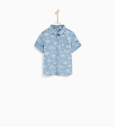 Image 2 of DENIM SHIRT WITH PALM TREES from Zara