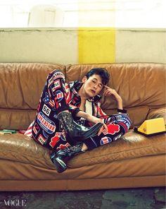 kim wonjoong for vogue magazine february issue 2015 Kim Won Joong, Vogue Korea, Flag Colors, Mens Style Guide, Vogue Magazine, Korean Model, Prince Charming, Instagram Fashion, Color Inspiration