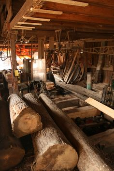 Traditional saw mill.