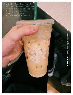Starbucks Hacks, Healthy Starbucks Drinks, Bebidas Do Starbucks, Starbucks Secret Menu Drinks, Iced Coffee Drinks, Coffee Drink Recipes, Starbucks Frappuccino, Starbucks Coffee, Mocha Coffee