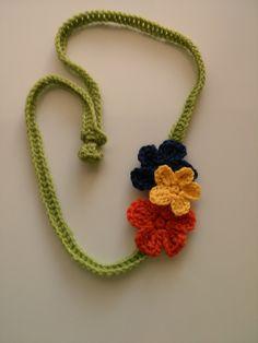 Flower Necklace By Maya Kuzman - Free Crochet Pattern - (ravelry)