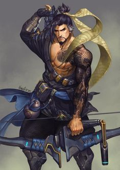 Finished this work months ago Procreate iPad Pro (grayscale) + Colouring/Editing (PS CC) + Clean-Up (SAI) Also available on Print virusac. Overwatch Tattoo, Overwatch Hanzo, Overwatch Fan Art, Jikook, Character Inspiration, Character Art, Genji And Hanzo, Overwatch Video Game, Hanzo Shimada