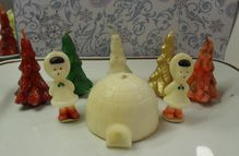 Gurley candles from the the IGLOO is the best along with the glittery trees! Christmas Candles, Vintage Christmas Ornaments, Retro Christmas, Christmas Decorations, Christmas Time Is Here, Christmas Past, Christmas Holidays, Xmas, Vintage Winter