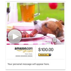 Amazon Gift Card - Email - How Dogs Celebrate (Animated) - http://www.darrenblogs.com/2016/08/amazon-gift-card-email-how-dogs-celebrate-animated/