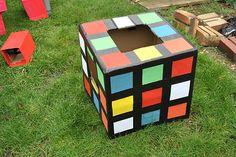 Rubiks cube costume Rubix, Homemade costume simple effective 80's costume ladies | eBay