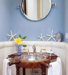 Ship wheel sink - beautiful