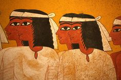 Detail from one of the walls of Tutankhamun's burial chamber