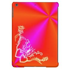 #Heart with #Flower and #Butterfly #NEW #Love #Rainbow #Retro #iPad #Case by Krisi ArtKSZP on Zazzle