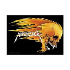 Metallica Skull And Flames Fabric Poster - This iconic, incendiary Metallica Skull & Flames fabric poster, designed by underground legend Pushead, will illuminate any wall. 40 x 30.